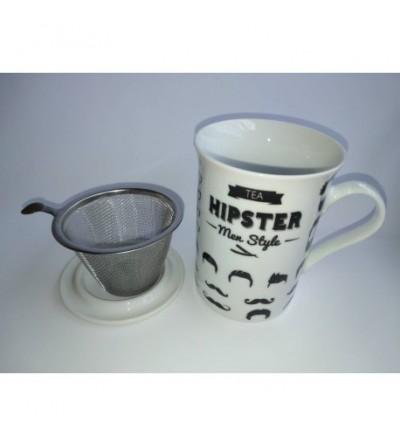 Taza con filtro y tapa Hipster Men Style