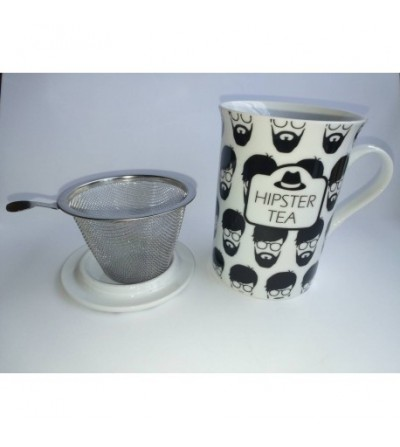 Taza con filtro y tapa Hipster Tea