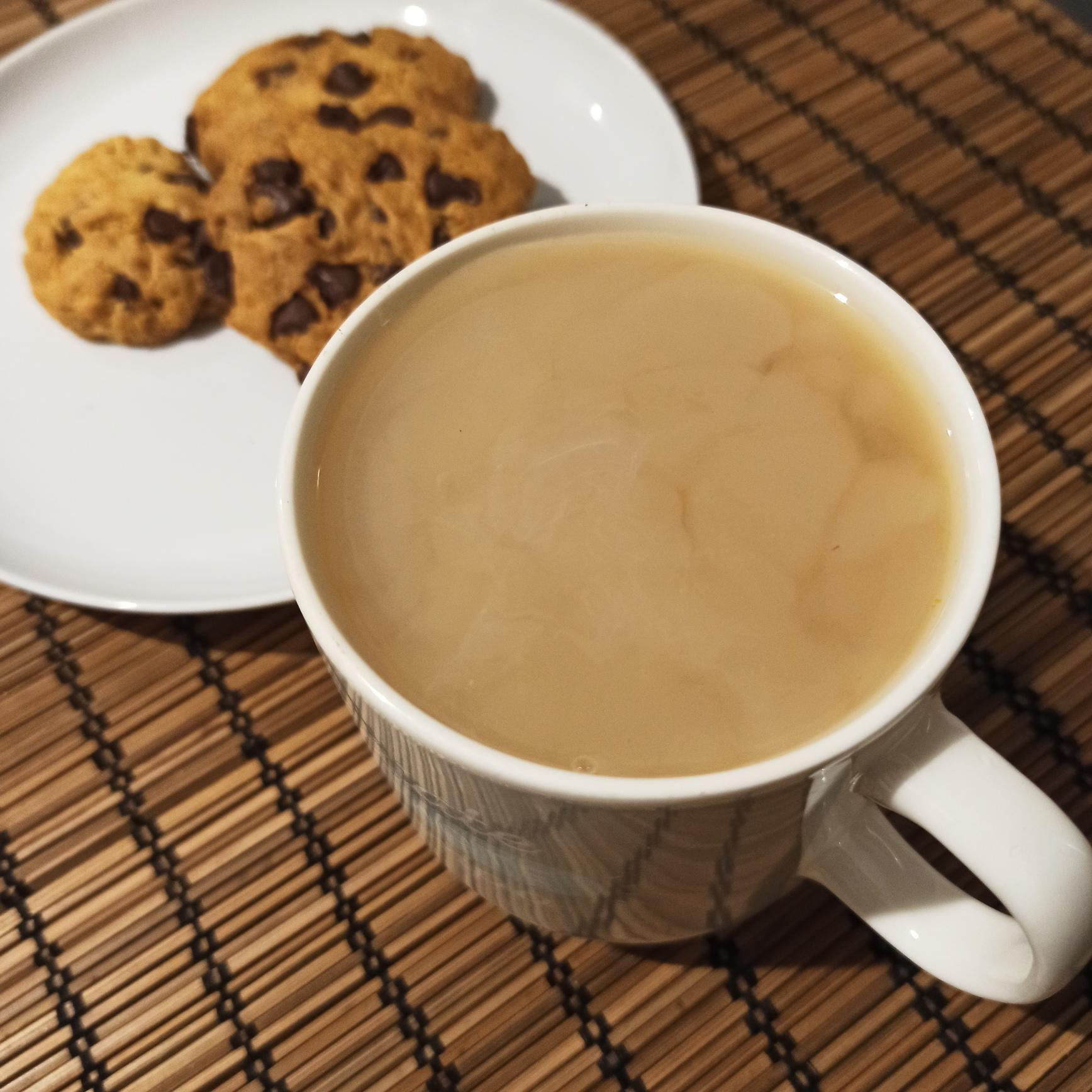 Galletas o cookies con té