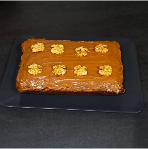 Brownie cheesecake calabaza Halloween